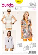 6809 Burda Pattern: Misses shirt